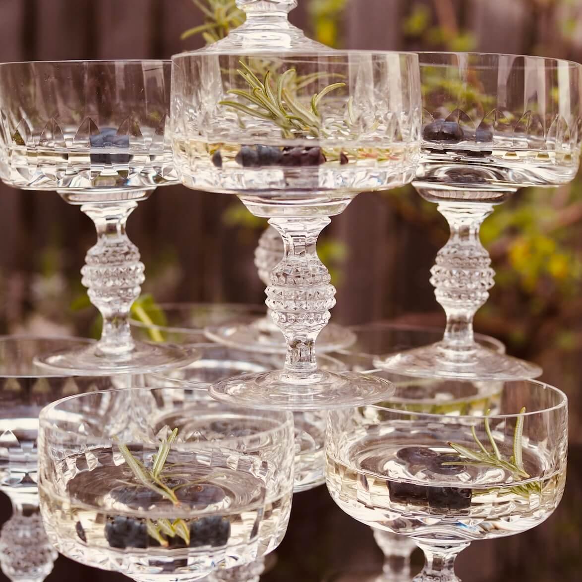 Kristallgläser Vintage Gläser Champagnerschalen