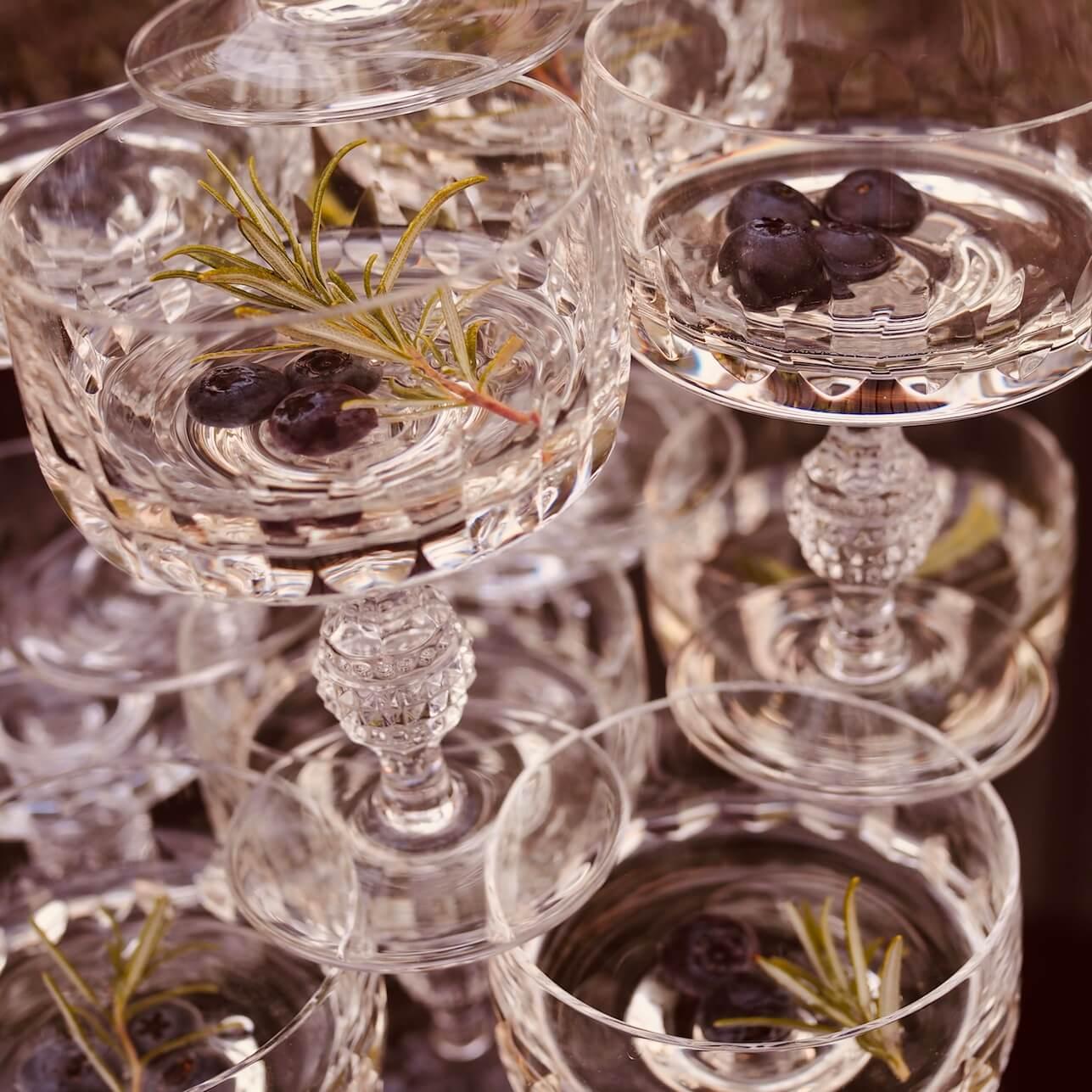 Kristallgläser Vintage Gläser Champagnerschalen Verleih