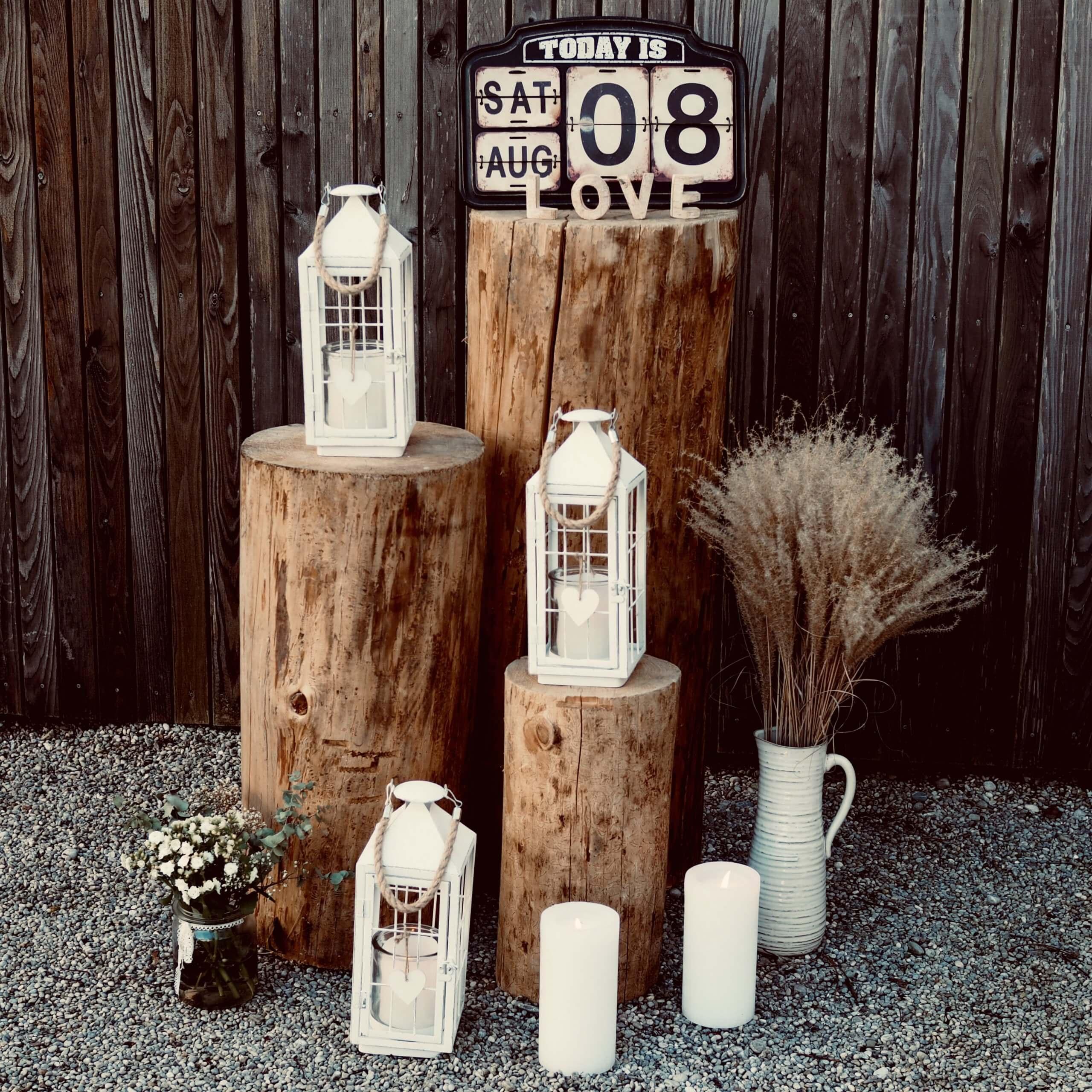 Kerzen und Laternen