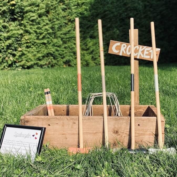 Croquet für KInderecke auf Hochzeit