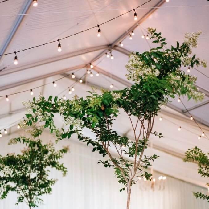 Party-Lichterketten im Zelt