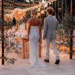 Holzrahmen für Hochzeitstafel