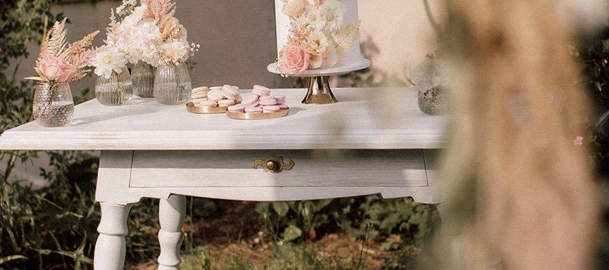 Sweet Table auf Vintagetisch