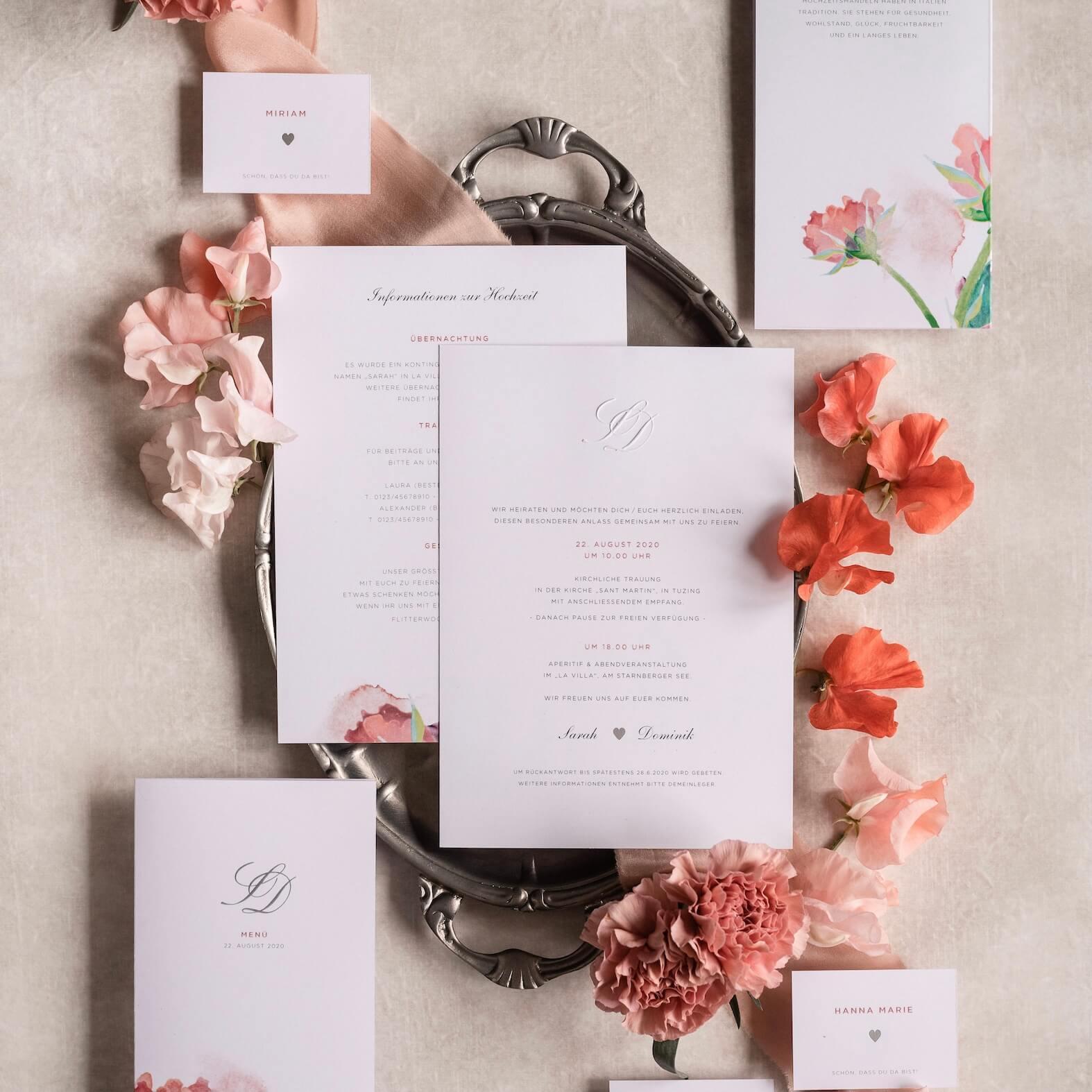 Carte Royale Papeterie für Hochzeit